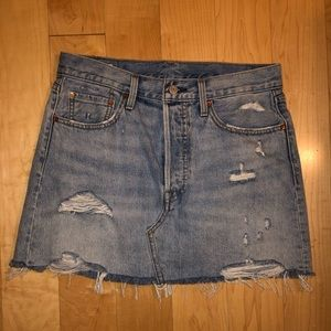 Levi's Deconstructed Button Fly Skirt
